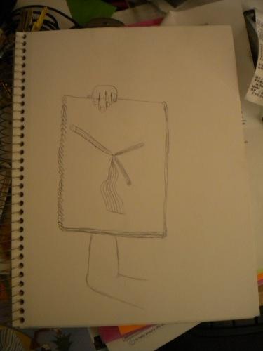 Joshua's drawing of drawing.