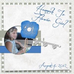 Hannah Jo Flower Girl - August 2012